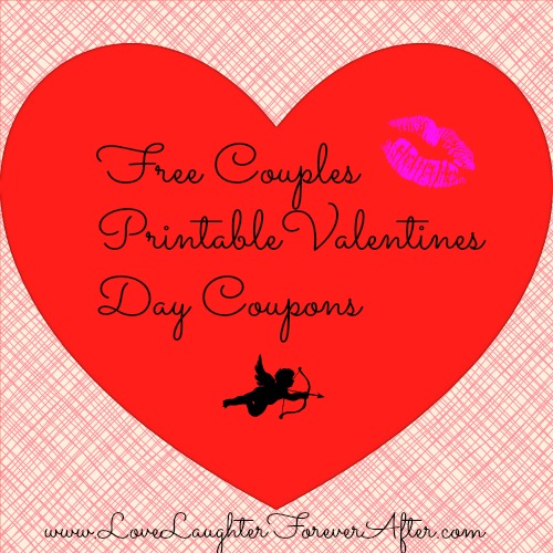 Free Couples Valentines Day Coupon Printable  Love Laughter