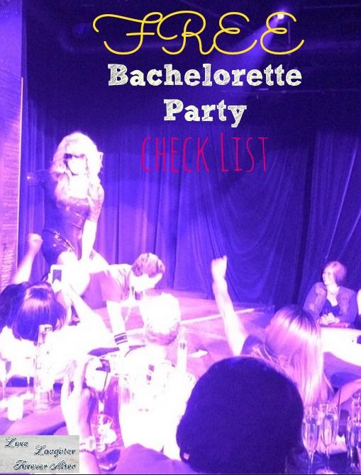 free bachelorette party checklist