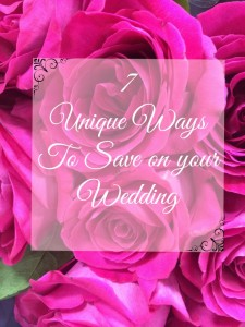 ways to save on a wedding