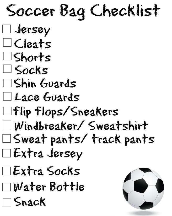 Soccer-bag-checklist