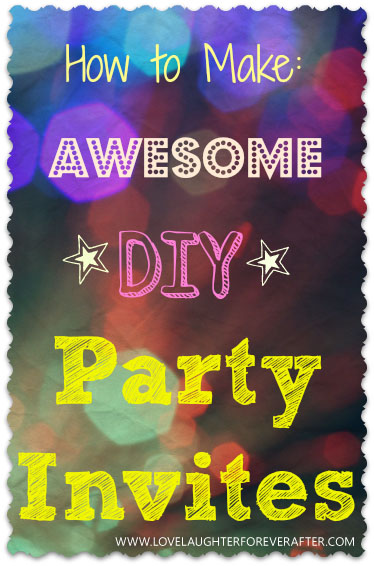 DIY party invitations