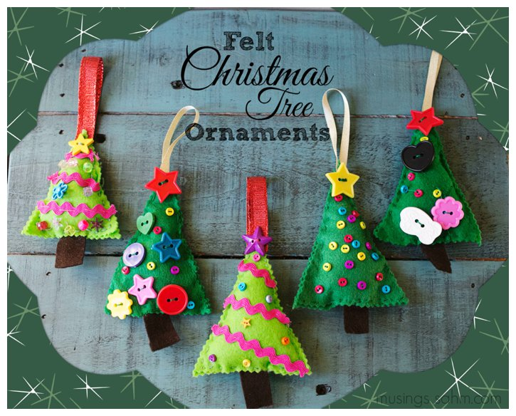 Felt Christmas Craft Ideas Part - 26: Love, Laughter, Foreverafter