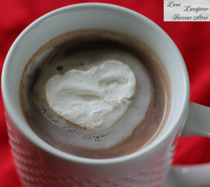Cool whip hot cocoa heart for Valentine's Day Treat