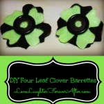 DIY Four Leaf Clover Barrettes for St.Patrick's Day!