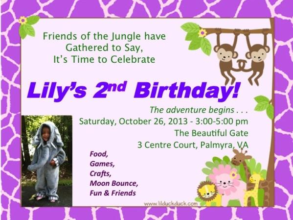 Lil' Birthday Invitation
