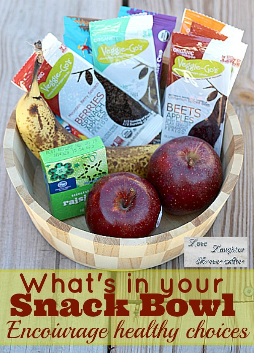 Encourage healthy snacking choices with a snack bowl