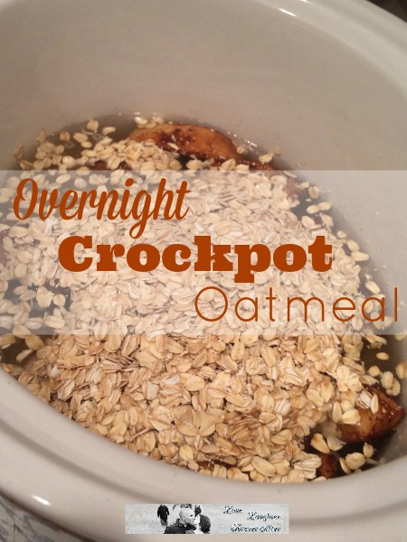 Super easy Overnight Crockpot Oatmeal