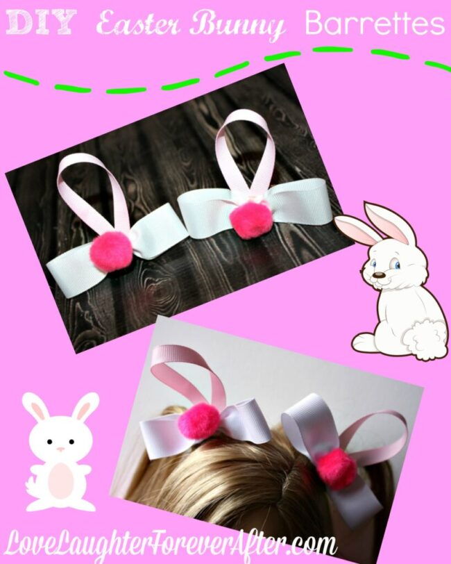 DIY Bunny Barrettes