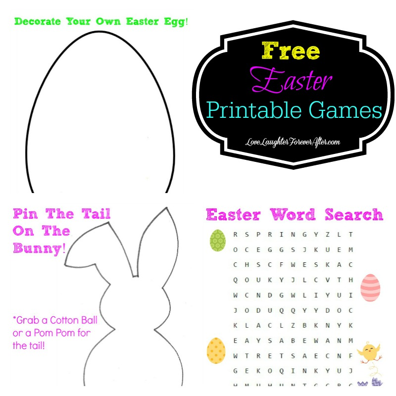 Free printable easter games