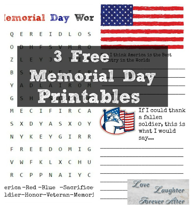 graphic relating to Memorial Day Printable identified as Take pleasure in, Laughter, Foreverafter3 Absolutely free Memorial Working day Printables
