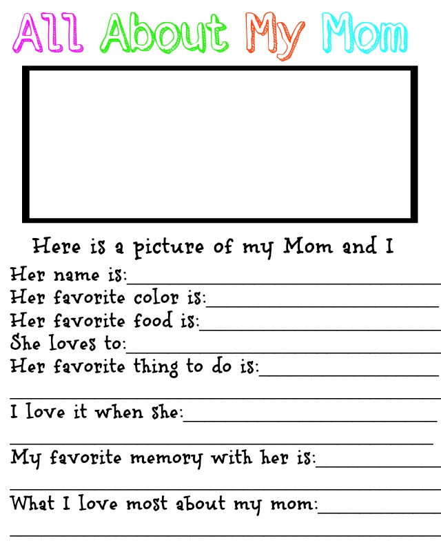 Free Motheru0027s Day Printable For Kids · All About My ...