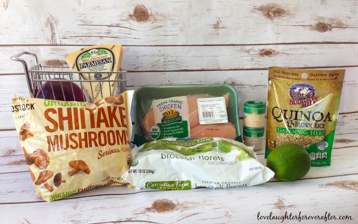 Organic Chicken & Quinoa Salad Ingredients