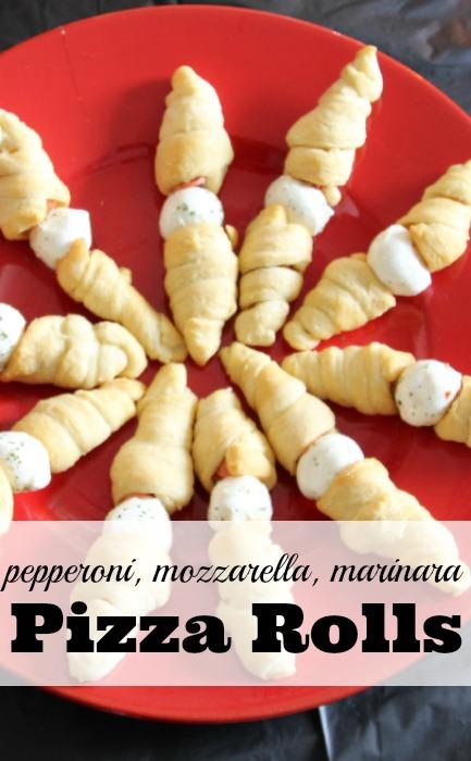 pepperoni, mozzarella, marinara pizza rolls