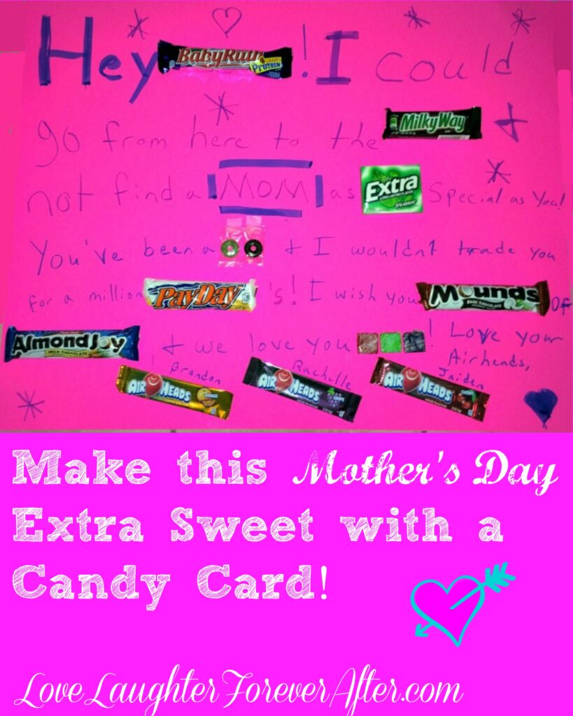 Candy Mothers Day Card
