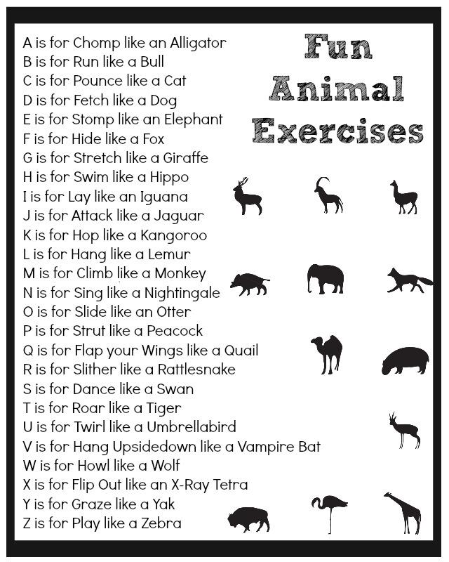 animal printable