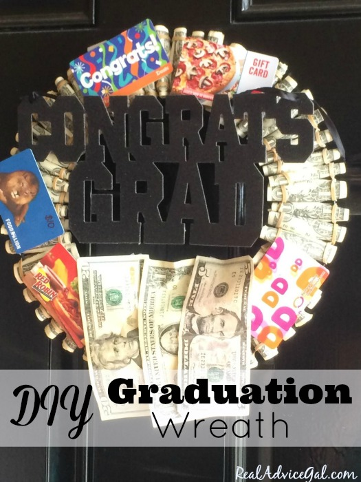 Money Graduation Wreath