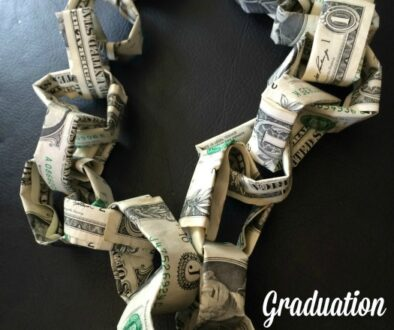Graduation Personalized Gifts: Money Necklace