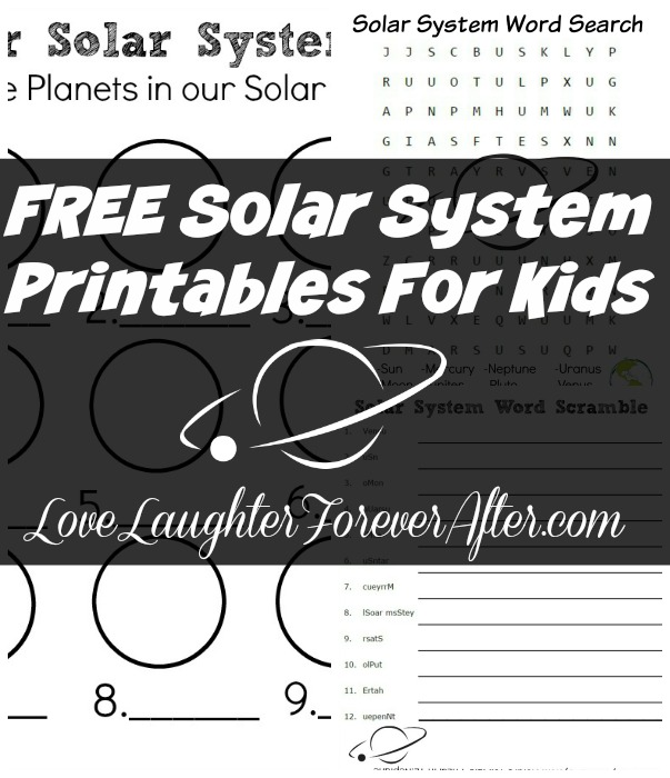 FREE Solar System Printables For Kids