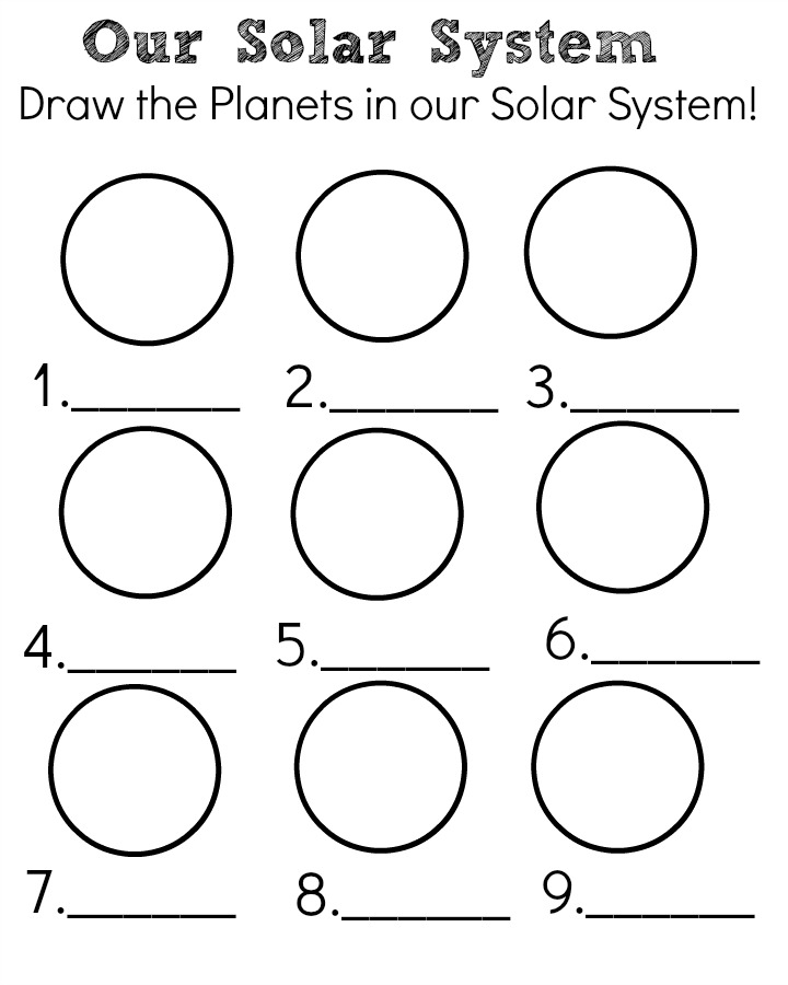 orbit solar system coloring printables - photo #34