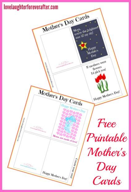 free printable mother 39 s day cards love laughter foreverafter. Black Bedroom Furniture Sets. Home Design Ideas