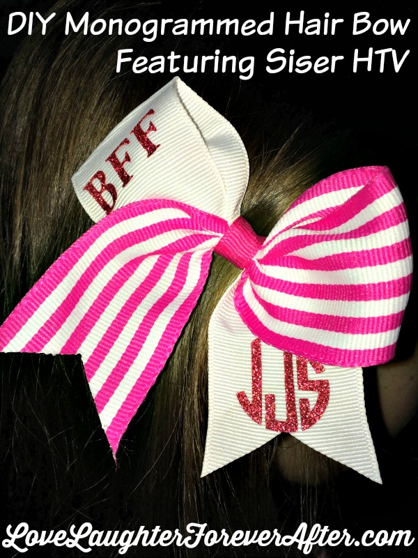 Love Laughter Foreverafterdiy Monogrammed Hair Bows With