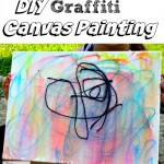 DIY Graffiti Canvas Painting