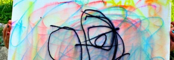 DIY grafiti canvas painting