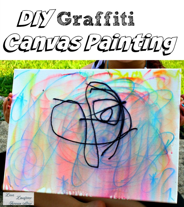 DIY grafiti canvas painting