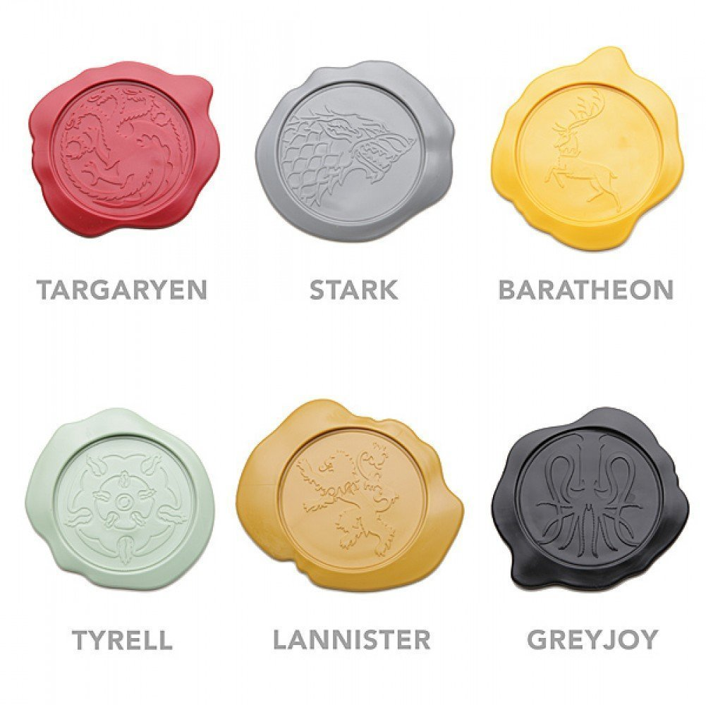 game of thrones house seal coasters