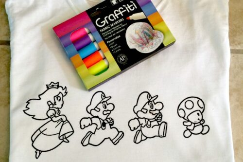 diy coloring book shirt