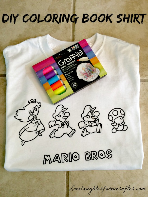- How To Make A Coloring Book Shirt For Kids