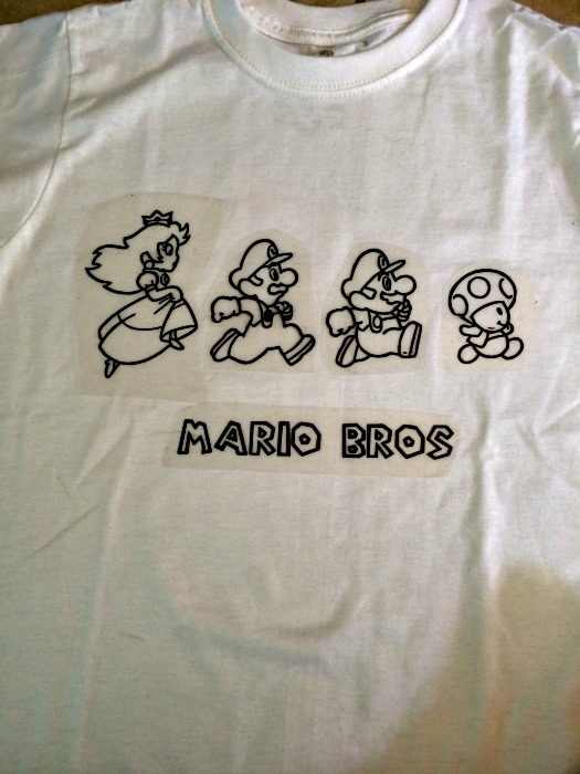 mario coloring book shirt