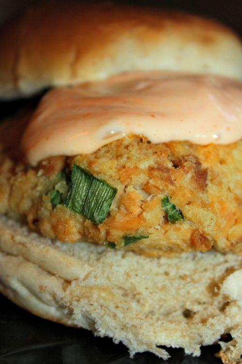 skinny salmon burgers