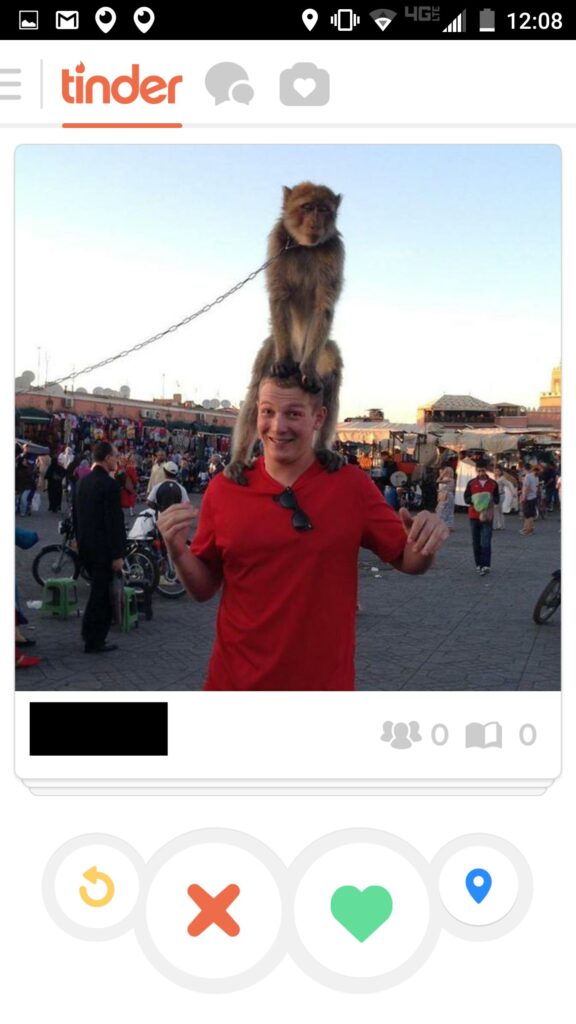 Tinder monkey on my back