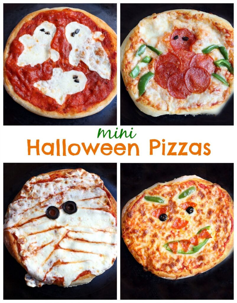 mini halloween pizza