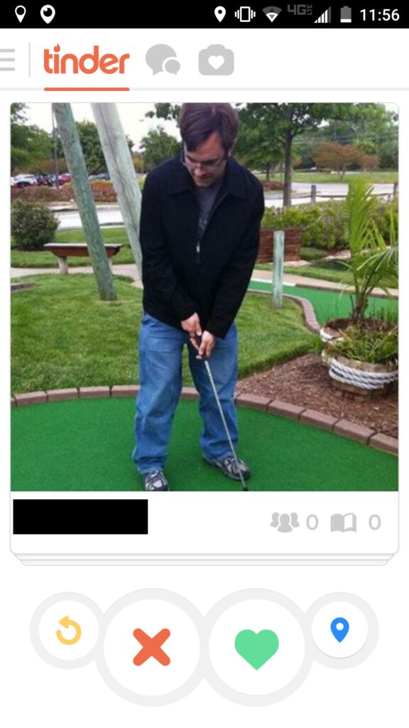 Tinder hole in one