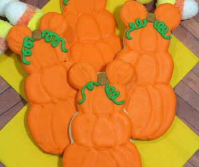 Mickey Mouse Pumpkin Patch Cookies