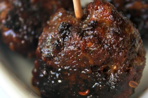 easy baked Asian meatball