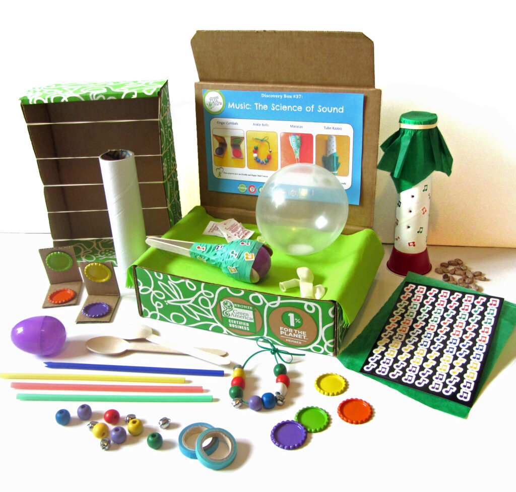 Music Science of Sound green craft kids