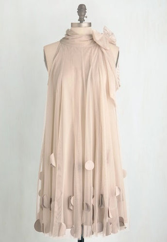 neutral plus size dress