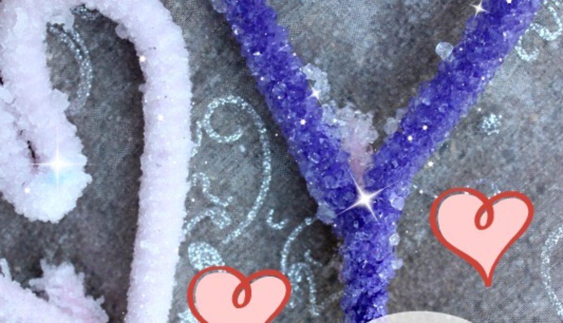 DIY crystal hearts craft
