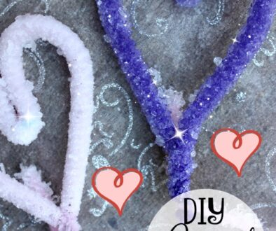 DIY crystal hearts craft