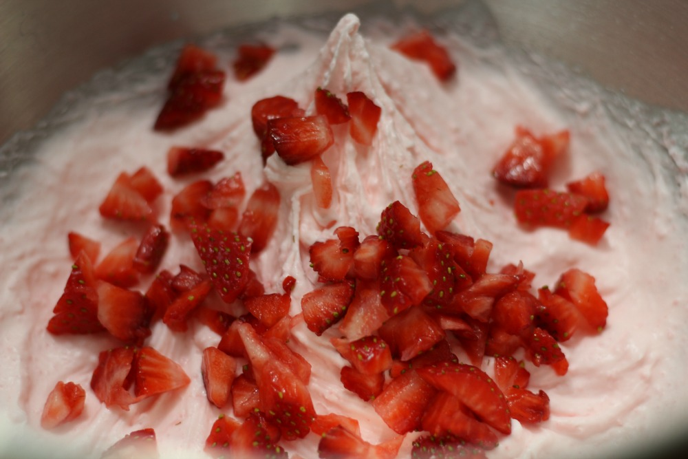Easy Strawberry Mousse Recipe fold in fresh strawberries