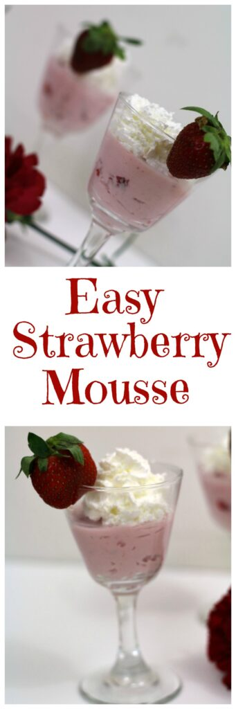 Easy Strawberry Mousse recipe is perfect treat for Valentine's Day with you sweetheart