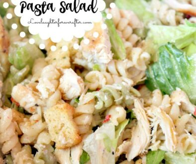 Super Easy Chicken Caeser Pasta Salad Recipe