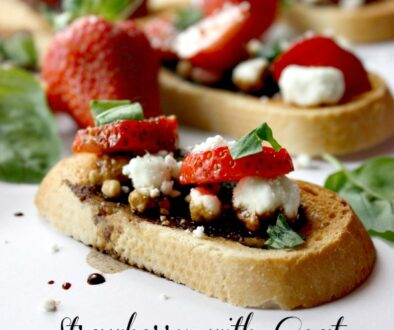 Strawberry With Goat Cheese And Basil Bruschetta Recipe