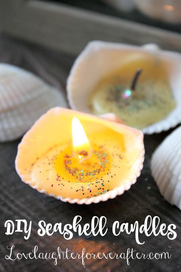 Easy DIY Seashell Candles