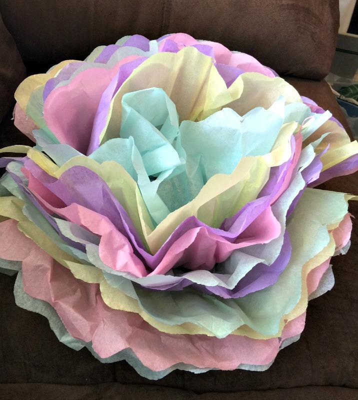 tissue paper flower craft